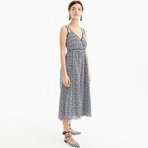 NWT J Crew midi double strap eyelet dress